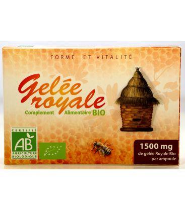 Gelée Royale Bio 1500 mg 20 ampoules